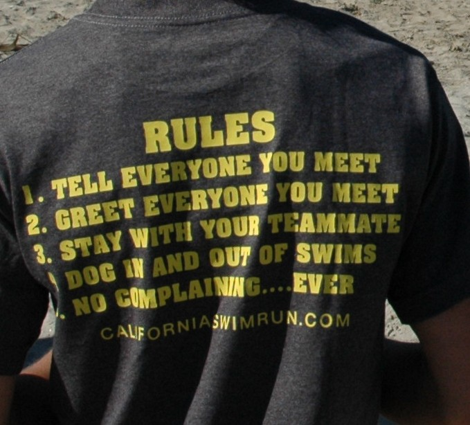 Rules of Swim Run